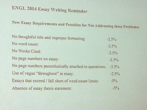 rules for word count for essays